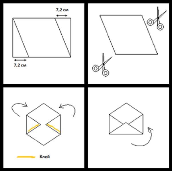 Как сделать из а4 открытку