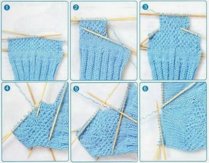 как связать плотную пятку носка спицами как связать носки спицами